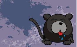 Panther ball cartoon background02 Stock Image