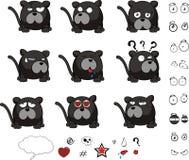 Panther ball cartoon set Stock Photos