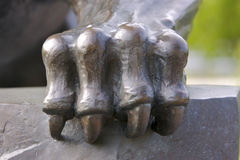Panther Claw. Panther Statue Claw Detail Royalty Free Stock Photo