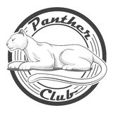 Panther club engraving style emblem vector Stock Photography