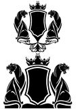 Panther coat of arms Royalty Free Stock Photo