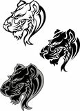 Panther Cougar Mascot Logo. Vector Images of Panther Cougar Mascot Logos Stock Photography