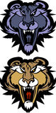 Panther Cougar Mascot Vector Logo. Vector Illustration of Panther Mascot Logo Stock Image