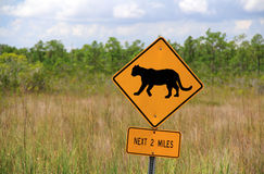 Panther Crossing Sign Royalty Free Stock Image