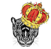 Panther in the crown. royalty free illustration
