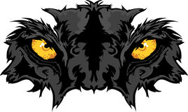 Panther Eyes Mascot Graphic Stock Image
