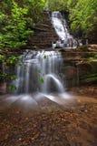 Panther Falls. Panther waterfall on Rabun Beach trail in Rabun county georgia Royalty Free Stock Images