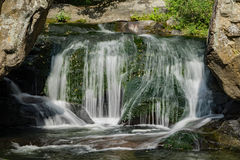 Panther Falls, Amherst County, Virginia, USA - 3. Panther Falls is an extremely popular local swimming hole and waterfall on the Pedlar River east of the Blue royalty free stock images