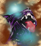 Panther. Figure in artistic style vector illustration