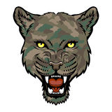 Panther. A Panther head logo. This is vector illustration ideal for a mascot and tattoo or T-shirt graphic stock illustration