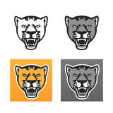 Panther head set Royalty Free Stock Photos