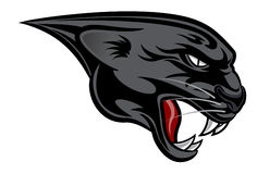 Panther Head Sports Crest Stock Image