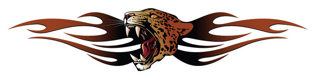 Panther head for tribal. Vector template tattoo: panther head for tribal Royalty Free Stock Image
