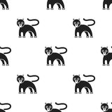 Panther icon in black style isolated on white background. Animals pattern stock vector illustration. Stock Photo