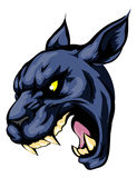 Panther mascot character. An illustration of a fierce black panther animal character or sports mascot Stock Photo