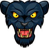 Panther mascot face royalty free illustration