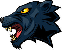 Panther mascot face vector illustration