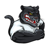 Panther mascot, team label design Royalty Free Stock Image