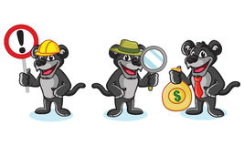 Panther Mascot Vector with money. Sign and magnifying Royalty Free Stock Photography