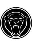 Panther medallion. Black panther symbol inside medallion Stock Photo