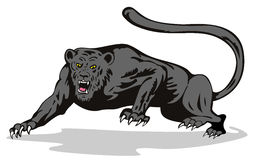 Panther on the prowl. Vector art of a Panther on the prowl Royalty Free Stock Photo