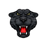 Panther roaring head muzzle vector mascot icon Stock Photography