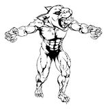 Panther scary sports mascot Royalty Free Stock Image