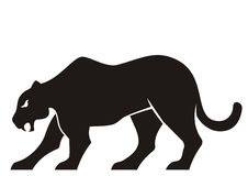 Panther silhouette Stock Images
