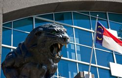 Panther Statue. At Carolina Panthers Stadium Entrance royalty free stock image