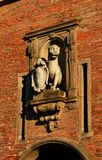 Panther symbol of Lucca. The Panther, symbol of the city of Lucca, an old marble statue on the city ancient walls gate, erected in the 16h century royalty free stock photography