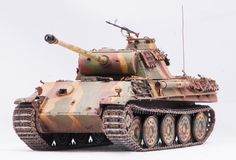 Panther tank. German tank Panther in World War II at white background Stock Photos