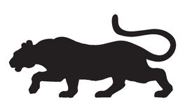 Panther. Vector drawing Royalty Free Stock Image