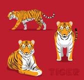 Panthera Tiger Cartoon Vector Illustration Images libres de droits