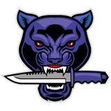 Pantherhauptbiss ein Militärblatt Stockfotos