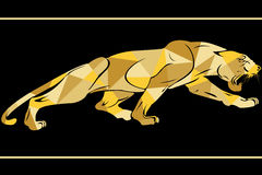 Panthers logo with geometric pattern. Vector illustration Stock Photography