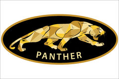Panthers logo with geometric pattern. Vector illustration Stock Photos