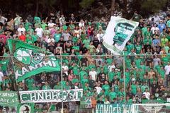 Panthrakikos against Panathinaikos football match Stock Photos