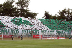 Panthrakikos against Panathinaikos football match Stock Photography