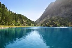Panticosa balneary lake Pyrenees Huesca Stock Photos
