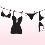 Pantie, Büstenhalter und Wäsche Stockfoto