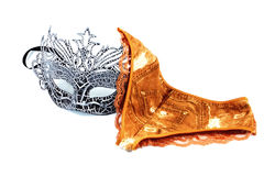 Pantie sexy and black mask Royalty Free Stock Photo