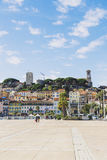 The Pantiero area in Cannes` old town Suquet tower and Vieux Po Stock Images