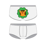 Panties for boy with the tiger. Stock Images