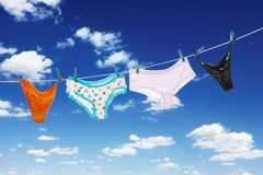 Panties on a clothes line Royalty Free Stock Image