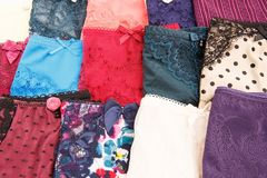 Panties. Colorful stylish panties closeup picture Royalty Free Stock Image