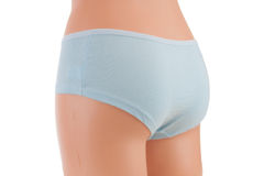 Panties on a mannequin. On a white background Stock Photos
