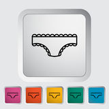 Panties. Outline icon on the button. Vector illustration Royalty Free Stock Photos