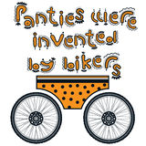Panties were invented by bikers Stock Photo