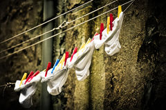 Panties on a wire Royalty Free Stock Photos