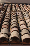 Pantiles on Riviera Roof. Pantiles on a roof in Port Grimaud on the French Riviera Royalty Free Stock Photo
